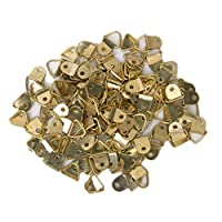Carry stone 100Pcs Small Triangle D-Ring Picture Frame Hangers Single Hole with Screws Useful And Durable