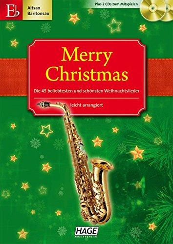 Merry Christmas, Für Altsax / Baritonsax,  m. 2 Audio-CDs