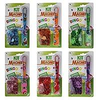 CARTALOTO-12-Magnetstbe-Bingo-100-Spielsteine-ABKMB-Mehrfarbig
