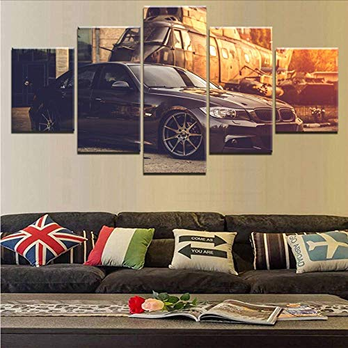 cceba1955e33 Wuwenw Wall Art Modular Picture Modern Painting 5 Piece Car And Classic  Retro Aircraft Poster Print Canvas Home Decor Living Room,4X6/8/10Inch,With  ...