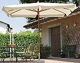 Ombrellone da Giardino in Legno 3X2m Vorghini Classic Ecrù