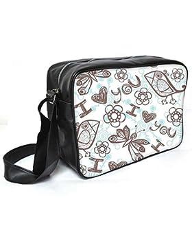 Snoogg Multicolor ich liebe sie Leder Unisex Messenger Bag für College Schule täglichen Gebrauch Tasche Material PU