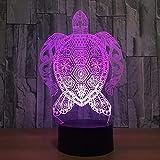 3D Schildkröte Illusions LED Lampen Tolle 7 Farbwechsel Acryl berühren Tabelle Schreibtisch-Nacht licht mit USB-Kabel für Kinder Schlafzimmer Geburtstagsgeschenke Geschenk