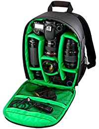 Beaspire Mochila 1PC bolso de la cámara réflex digital Caso impermeable para Canon para Nikon para Sony (Verde)