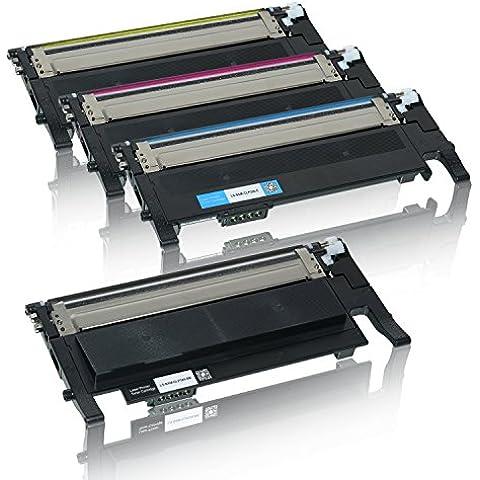 4 Toner für CLP320 CLP325 N W CLX3185 3180 FN FW CLP-K4072S C4072S M4072S Y4072S - Schwarz 2500 Seiten, Color je 2000