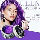 Hunpta DIY Haar Lehm Wachs Schlamm Färbung Creme Großmutter Haar Asche Dye Temporary (Lila)