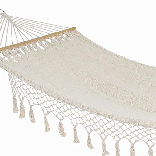 Eurowebb Hamac Long à Tissu en Coton et Polyester - Se Reposer Confortable Exterieur