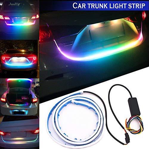 Buffyin RGB Bunte Fließen LED Koffer Leiste Auto Koffer Dynamic Blinker LED Drehen Heck Licht Tagfahrlichter - 120 Spannung Licht