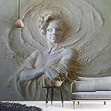 Benutzerdefinierte Jede Größe Fototapeten Moderne 3D Stereoscopic Art Relief Maske Schönheit Hintergrund Wandbild Tapete Für Wände Rolle 3D