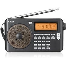 Akai APW-15 Mini radio ricevitore mondiale digitale (frequenze FM, LW,