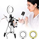LayOPO Anello Luminoso per Selfie,Luce Anulare A LED Dimmerabile con Supporto per Treppiede E Supporto per Telefono Cellulare per Streaming Live/Trucco/Youtube Video/Fotografia,Clip per iPhone iPad