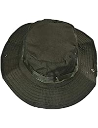 Sombrero para El Sol Sombrero Militar Plano Sombrero De Escalada Fácil Al  Aire Libre Sombrero De Pesca Gorro para Hombre Protector Solar para… 500490d03db