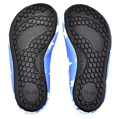 PER Bambino Scarpe da Immersione con Carino Disegno di Stelle Scarpe da Acqua Confortevoli Antiscivolo e Asciugatura Veloce blu
