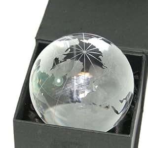 Cartographie/monde Globe Sphérique lourd Presse-papier en verre cristal transparent–7cm
