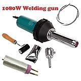1080W plastica aria calda saldatore di saldatura pistola kit torcia PE PVC pistola in vinile essiccazione palmare sigillante con ugelli di saldatura