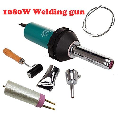 1080W Kunststoff heiß Luft Schweißer Kunststoff Schweißpistole Kit Torch pe schweissen PVC Pistole Vinyl Handheld Trocknung Abdichtung mit schweißdüsen hot air gun