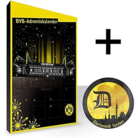 BVB 09 - Borussia Dortmund Kalender, Adventskalender, Weihnachtskalender - Fairtrade-zertifiziert