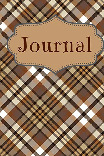 Tartan Coffee Color Journal: For Coffee Lovers and Writers: Blank Lined Paper Notebook (6x9 inch - 70 Sheets/140 Pages) With Tartan Pattern Background Tartan Tee