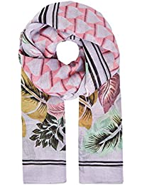 HALLHUBER Scarf with geometric and floral print