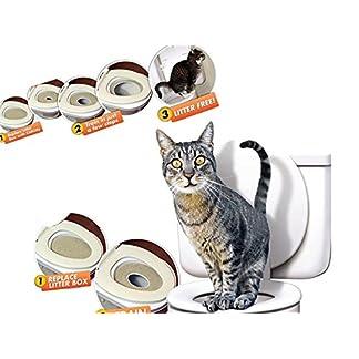Cat Kitty Toilet Training System Potty Pet Litter Tray Kit Smart Kitten Free Nip 515 9ViD1 L