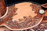 Baumloser Westernsattel INDIANA aus Büffelleder mit Klettkissen, Größe:16 Zoll - 3