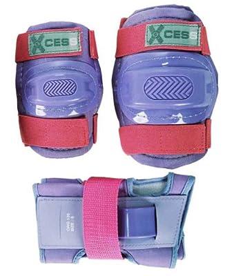 Xcess Kit de protection pour enfant Genouillères, coudières et protège-poignets Lilas