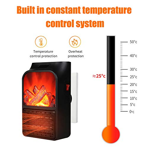 KKmoon Calefactor Electrico Portatil, 900W Mini Termoventiladores Calentador de Cerámica para Hogar...