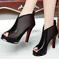 VIVIOO Sandales pour femmes Sandales à talons hauts Shoessandals à talons hauts Sandales d'été pour femmes Sandales fines Chaussures Wild Bags Talons hauts,rose,39