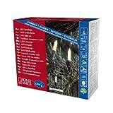 Konstsmide 6060-100 LED Minilichterkette/für Außen (IP44) / 24V Außentrafo / 120 warm weiße Dioden/grünes Kabel