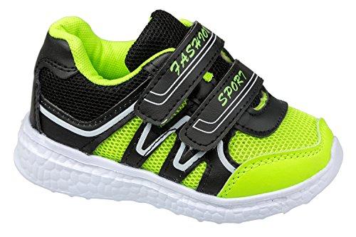 gibra , Chaussures spécial sport en salle pour fille Vert fluo/noir