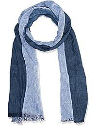 OTTO KERN Herren Schal Weicher Baumwoll-Mix, Blau (Blau 343), One Size