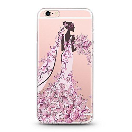 Handyhülle für Apple iPhone 7 ( Anker pink ) - Hülle - Schutzhülle mit Motiv - TPU Silikon Hülle - Case - Cover - Schale - Backcover - Handytasche Frau