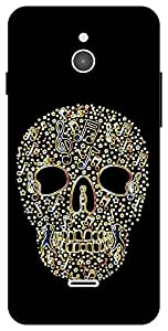 The Racoon Lean Glowing Music Skull hard plastic printed back case / cover for Infocus M2