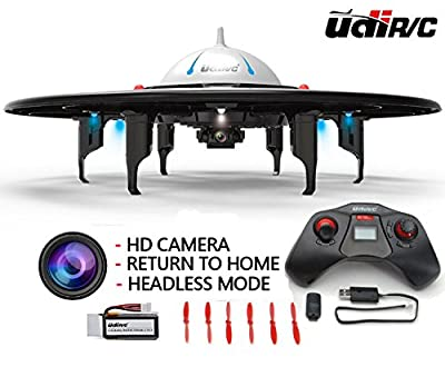 Camera Drone UDI U845 UFO Quadcopter with HD Camera Return Home Function Headless Mode Features HD Camera RC Remote Control
