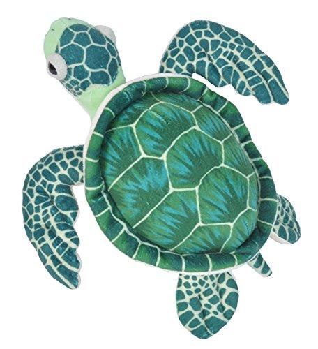Wild Republic 22460 22460 Plüsch Schildkröte, Cuddlekins Kuscheltier, Plüschtier 20 cm, grün