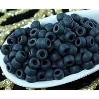 10g Jet Nero Opaco Matubo 7/0 ceca Seed Beads di Vetro