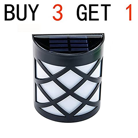 Candoran Solar Power 6 LED Garden Fence Lamp Wall-mounted Courtyard Lawn Decor Wall Light