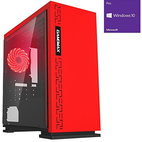 OCHW Ultra Fast Gaming PC - AMD A8 7650K Quad Core @ 4.20GHz, ATI Radeon HD R7 Graphics, 8GB DDR3 1600MHz RAM, 1TB Hard Drive, Gigabyte A68HM, F3 Red Case, WiFi, Windows 10 Operating System *** 3 YEAR WARRANTY ***