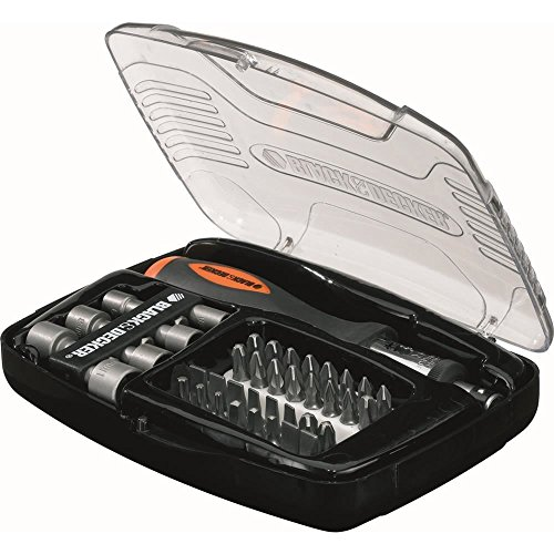 BLACK+DECKER A7062-XJ - Kit 40 Piezas atornillar atornillador