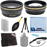 Pro Series 30mm 0.43x Wide Angle Lens + 2.2x Telephoto Lens With Deluxe Lens Accessories Kit For Sony HDR-CX360V, HDR-PJ30, HDR-PJ50V, & HDR-TD10
