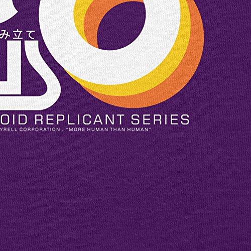 NERDO - Nexus 6 Personalized Humanoid Replicant Series - Damen T-Shirt Violett
