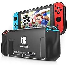 Kit de Accesorios para Nintendo Switch Funda Protectora para el Interruptor de Nintendo IDESION Funda de TPU Suave y Ergonómica Antiarañazos para Nintendo Switch 2017 - Negro
