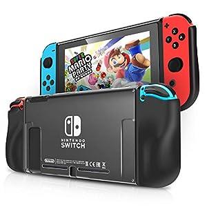 IDESION Nintendo Switch Schutzhülle, Switch Weich Crystal Hülle /Case/Cover Zubehör , Tropfenschutz Nintendo Switch…