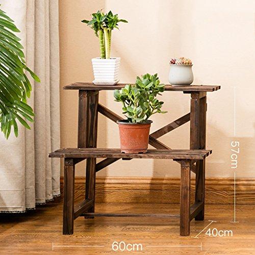 LWJJHJ Pflanzenpyramide Blumenständer Massiv Holz Blumenregal Blumenregal Mehrstöckig Blumenständer aus Bambus (Größe : A)