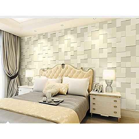 Carta da parati Spessore 3D semplice non-tessuto carta da parati soggiorno TV camera da letto letto sfondo , 65031 ivory yellow - Ivory Pearl Carta