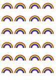 Rainbow Edible PREMIUM THICKNESS SWEETENED VANILLA, Wafer Rice Paper Cupcake Toppers/Decorations