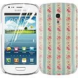 JAMMYLIZARD | Garten Back Cover Hülle mit Muster für Samsung Galaxy S3 Mini, ROSA MUNDI