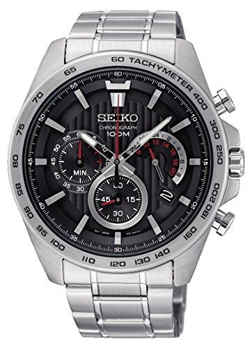 Seiko Herren Chronograph Quarz Uhr mit Edelstahl Armband SSB299P1