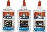 Elmers Liquid School Glue, Washable oVoRMI, 3Pack (5 oz), Clear