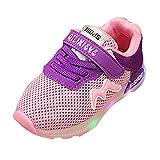 LED Schuhe Jungen Mädchen Turnschuhe Sneaker Anti-slip Breathable Kinder Schuhe Licht Schuhe Sport Running LED Lenuchtende Schuhe Sneaker Rosa 23 Mxssi